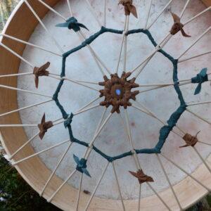 shamanic drum fallow deer skin