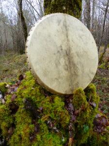 shamanic drum with deer skin
