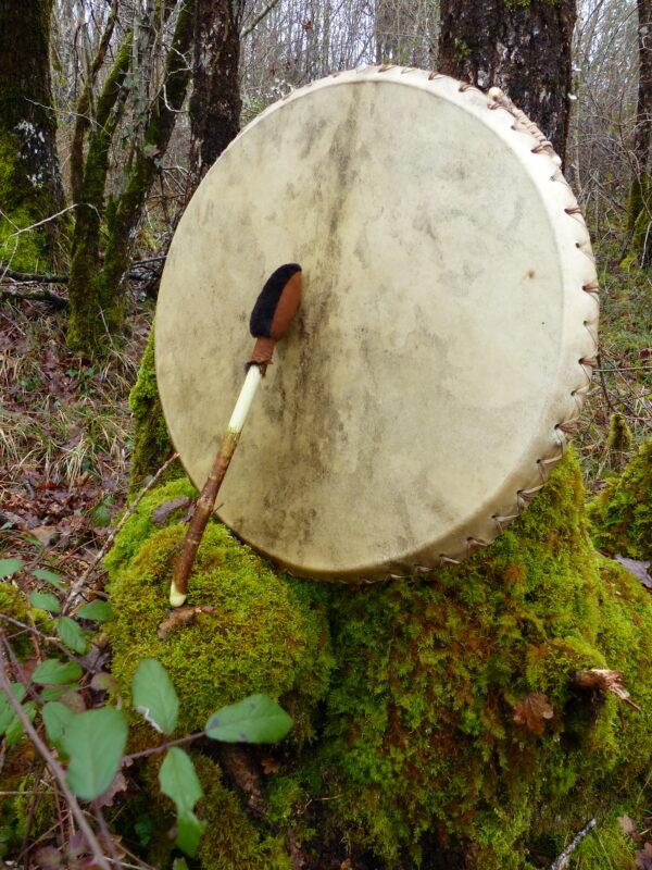 shamanic drum and beater