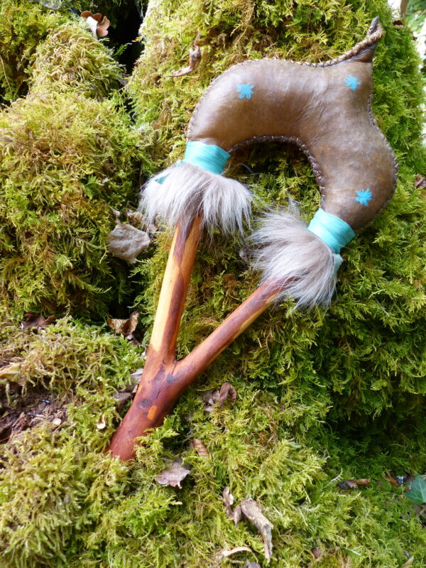 Shamanic rattle for ceremonies and healing.