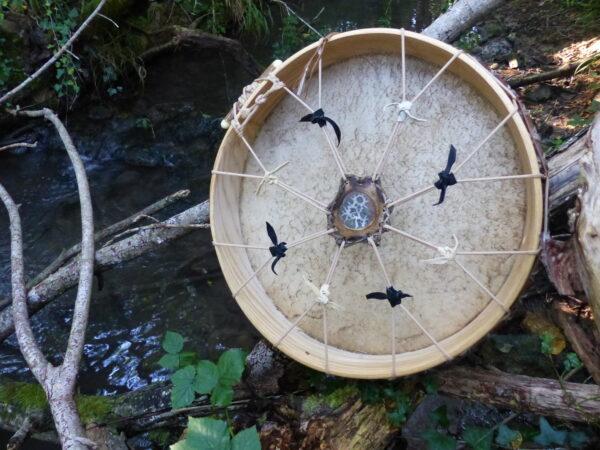 adjustable shamanic drum for meditation and journeying, healing