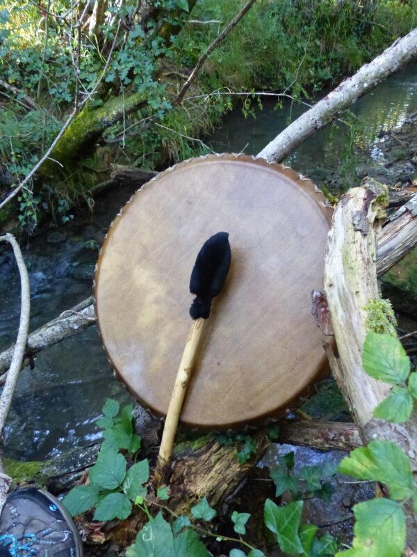 shamanic drum with beater